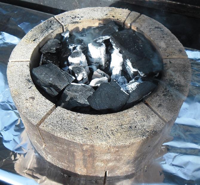 De brandende EcoGrill