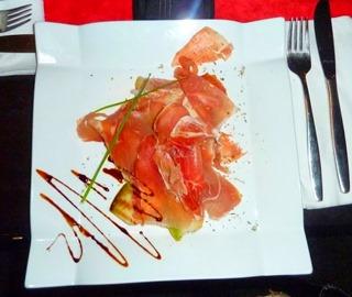 Meloen met Ham